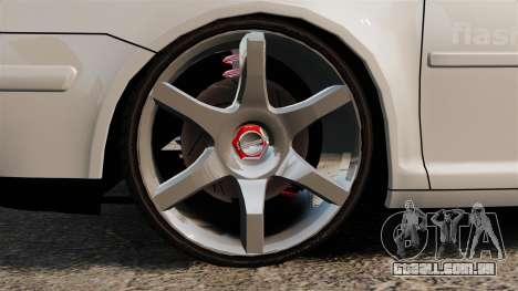 Volkswagen Golf Flash Edit para GTA 4 vista de volta