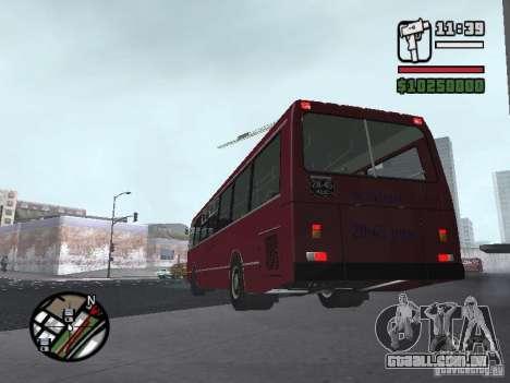 LAZ 5252 para GTA San Andreas traseira esquerda vista