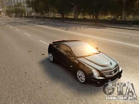 Cadillac CTS-V Coupe 2011 para GTA 4 vista superior