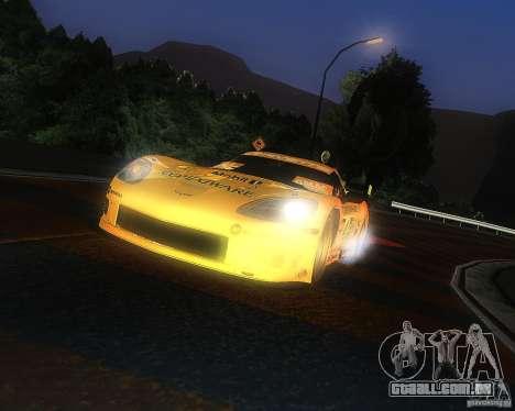 Chevrolet Corvette Drift para GTA San Andreas traseira esquerda vista
