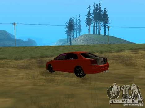 Toyota Avensis TRD Tuning para GTA San Andreas esquerda vista
