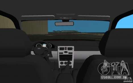 Lada 2170 Priora para GTA Vice City vista superior