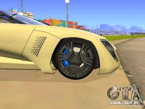 Bertone Mantide para GTA San Andreas vista interior
