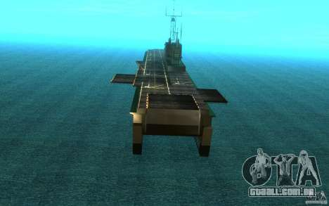 New Aircraft carrier para GTA San Andreas vista direita