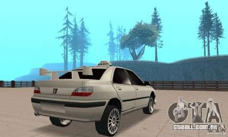 Peugeot 406 TAXI para GTA San Andreas esquerda vista