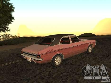 Ford Cortina MK 3 2000E para GTA San Andreas esquerda vista