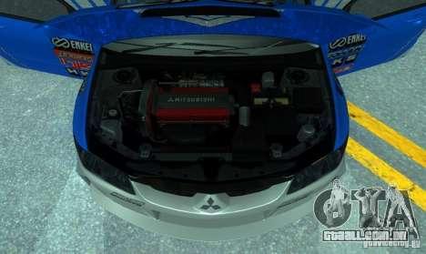 Mitsubishi Lancer Evo 8 Tunable para vista lateral GTA San Andreas