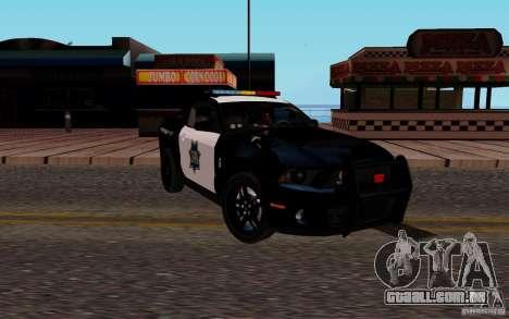 Ford Shelby Mustang GT500 Civilians Cop Cars para GTA San Andreas