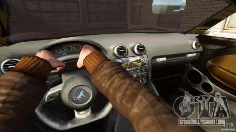 Turismo Spider para GTA 4 vista de volta