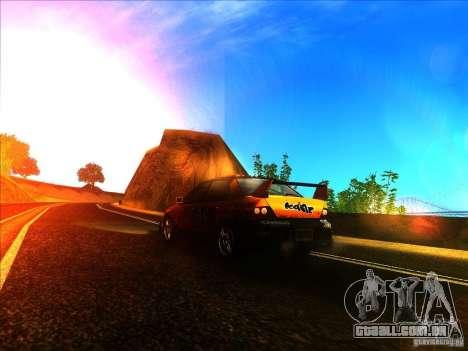 Mitsubishi Lancer Evolution IX MR para GTA San Andreas traseira esquerda vista