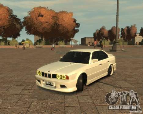 Bmw 535i (E34) tuning para GTA 4 esquerda vista