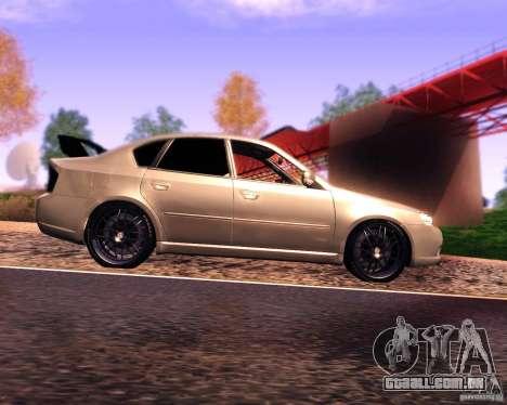 Subaru Legacy 3.0 R tuning v 2.0 para GTA San Andreas esquerda vista