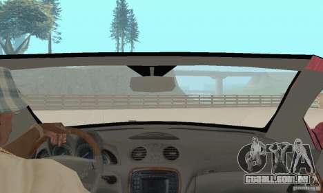 Mercedes-Benz SL500 (R230) para GTA San Andreas vista interior