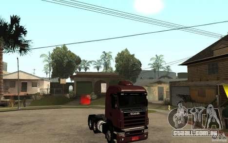 Scania 124 R480 6x4 Truck 1 para GTA San Andreas vista traseira