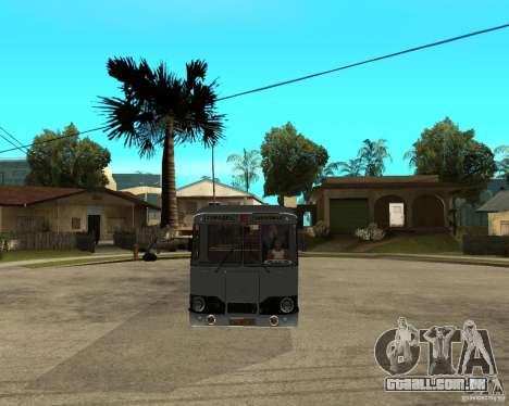 LIAZ 677 para GTA San Andreas vista traseira