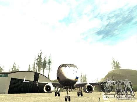 Embraer E-190 para GTA San Andreas vista traseira