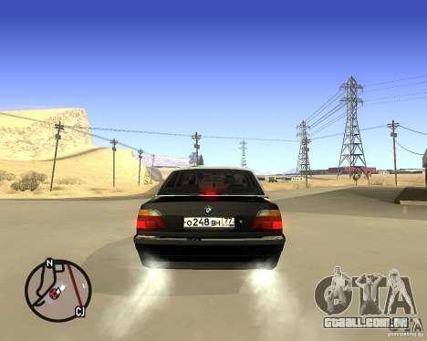 BMW 740il e38 para GTA San Andreas traseira esquerda vista