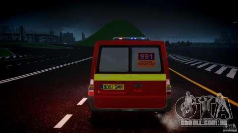 Ford Transit Polski uslugi elektryczne [ELS] para GTA 4 vista inferior