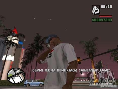IPhone 4G branco para GTA San Andreas terceira tela