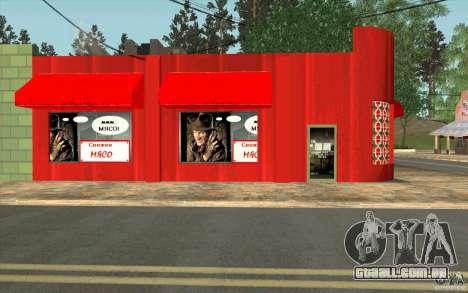 Uma aldeia nova Dillimur para GTA San Andreas por diante tela