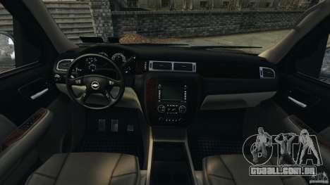 Chevrolet Suburban GMT900 2008 v1.0 para GTA 4 vista de volta