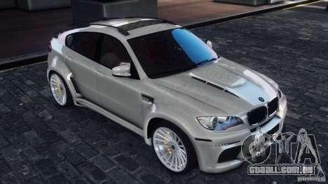 BMW X6 Hamann para GTA 4 traseira esquerda vista
