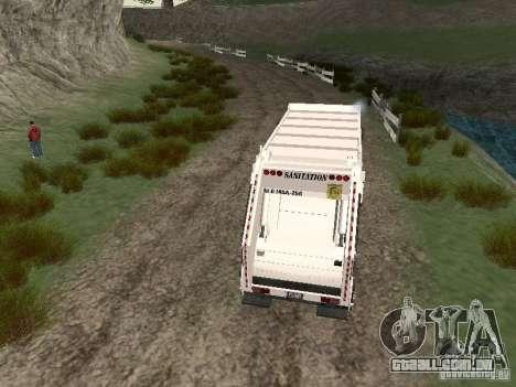 Caminhão de lixo do GTA 4 para GTA San Andreas vista direita