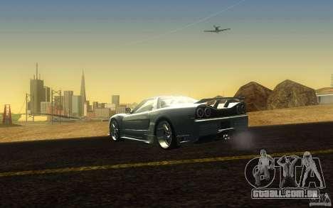 Honda NSX VeilSide Fortune para GTA San Andreas traseira esquerda vista