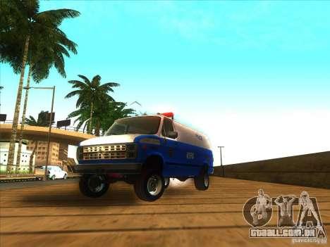 Chevrolet Van G20 BLUE NYPD 1990 para GTA San Andreas