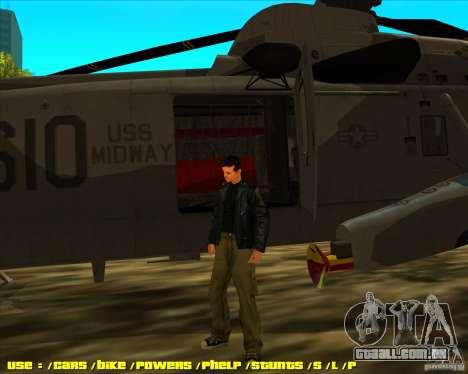 SH-3 Seaking para GTA San Andreas traseira esquerda vista