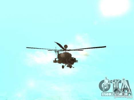 MI 28 Havok para GTA San Andreas vista interior