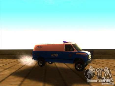 Chevrolet Van G20 BLUE NYPD 1990 para GTA San Andreas vista direita