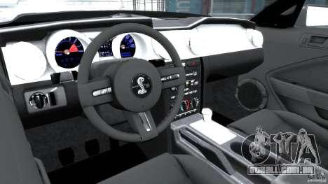 Shelby GT500KR 2008 para GTA 4 vista direita
