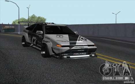 Toyota Corolla AE86 Shift 2 para GTA San Andreas traseira esquerda vista