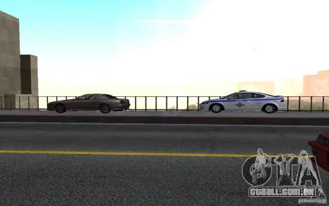 Polícia sobre a ponte de San Fiero_v. 2 para GTA San Andreas segunda tela