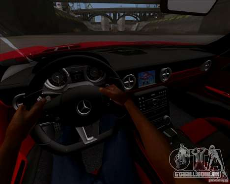 Mercedes-Benz SLS AMG V12 TT Black Revel para GTA San Andreas vista traseira