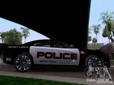 Dodge Charger SRT8 2011 V1.0 para GTA San Andreas traseira esquerda vista