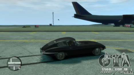 Jaguar XK E-type para GTA 4 esquerda vista