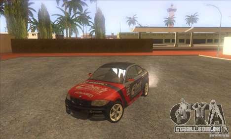 BMW 135i (E82) para GTA San Andreas vista superior