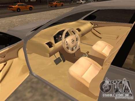 NISSAN ALTIMA para GTA San Andreas traseira esquerda vista