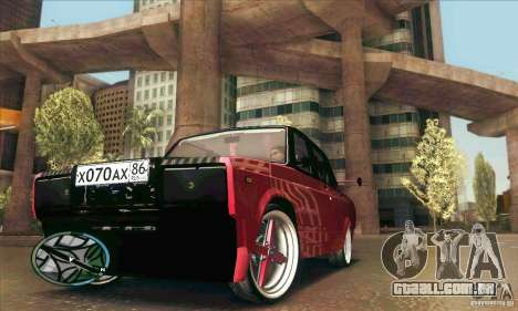 VAZ-2107 carro Tuning para GTA San Andreas vista superior