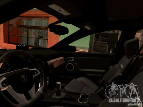 Pontiac G8 Police para GTA San Andreas esquerda vista