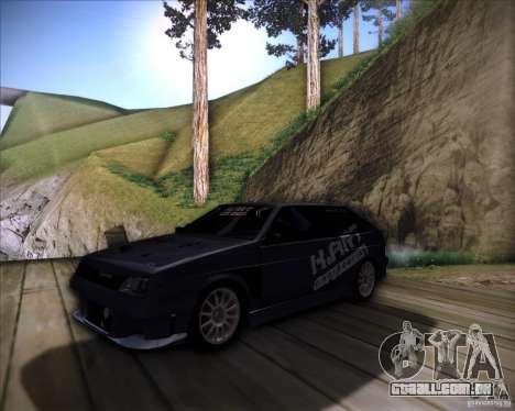 VAZ 2108 K-arte para GTA San Andreas vista interior