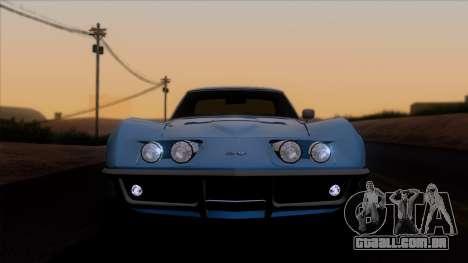Chevrolet Corvette C3 Stingray T-Top 1969 v1.1 para GTA San Andreas vista traseira