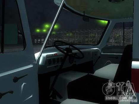 UAZ 3962 ambulância para GTA San Andreas vista traseira