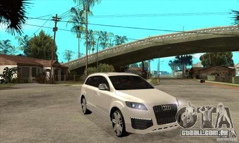 AUDI Q7 V12 V2 para GTA San Andreas vista traseira