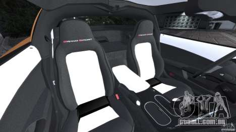 Chevrolet Corvette C6 Grand Sport 2010 para GTA 4 vista interior