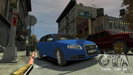 Audi S4 Avant para GTA 4 traseira esquerda vista