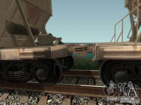 Tremonha de cimento para GTA San Andreas traseira esquerda vista
