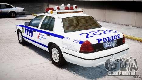 Ford Crown Victoria NYPD para GTA 4 vista direita